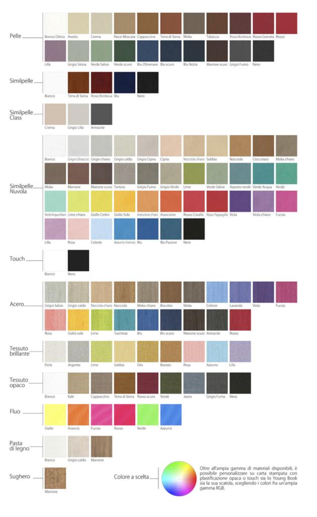 materiali e colori album book