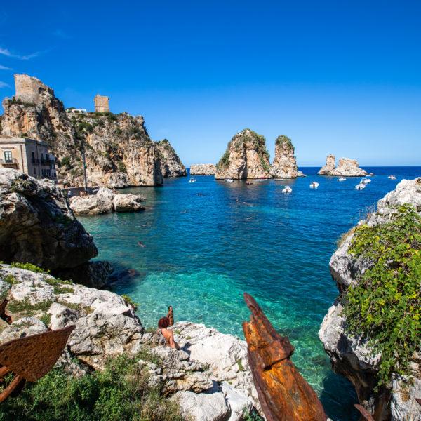 Vista dei Faraglioni La Tonnara di Scopello Miglior fotografo per Matrimonio a Palermo
