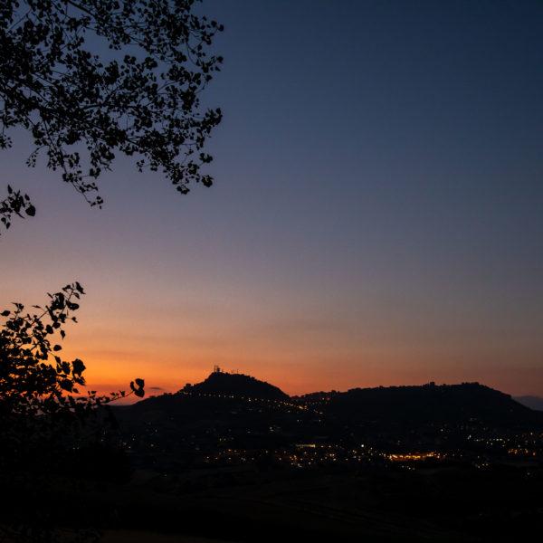 tramonto enna pergusa vista da villa pastorelli