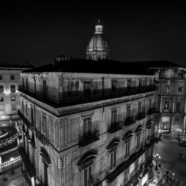 i quattro canti, corso vittorio, la cattedrale, santa caterina, piazza pretoria, il comune, porta felice, porta nuova vista dall alto hotel