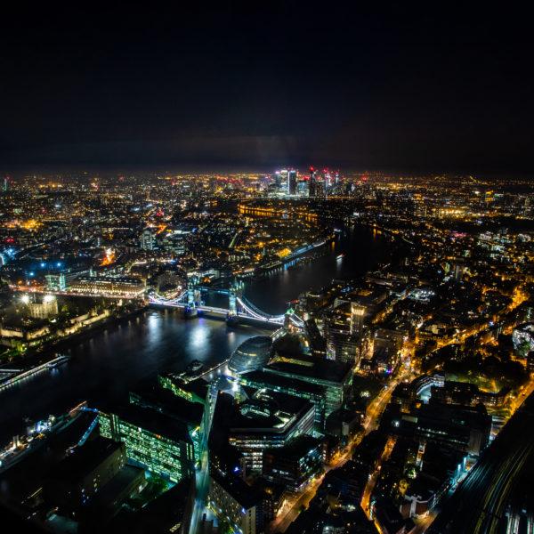 London view Shard Night Shard